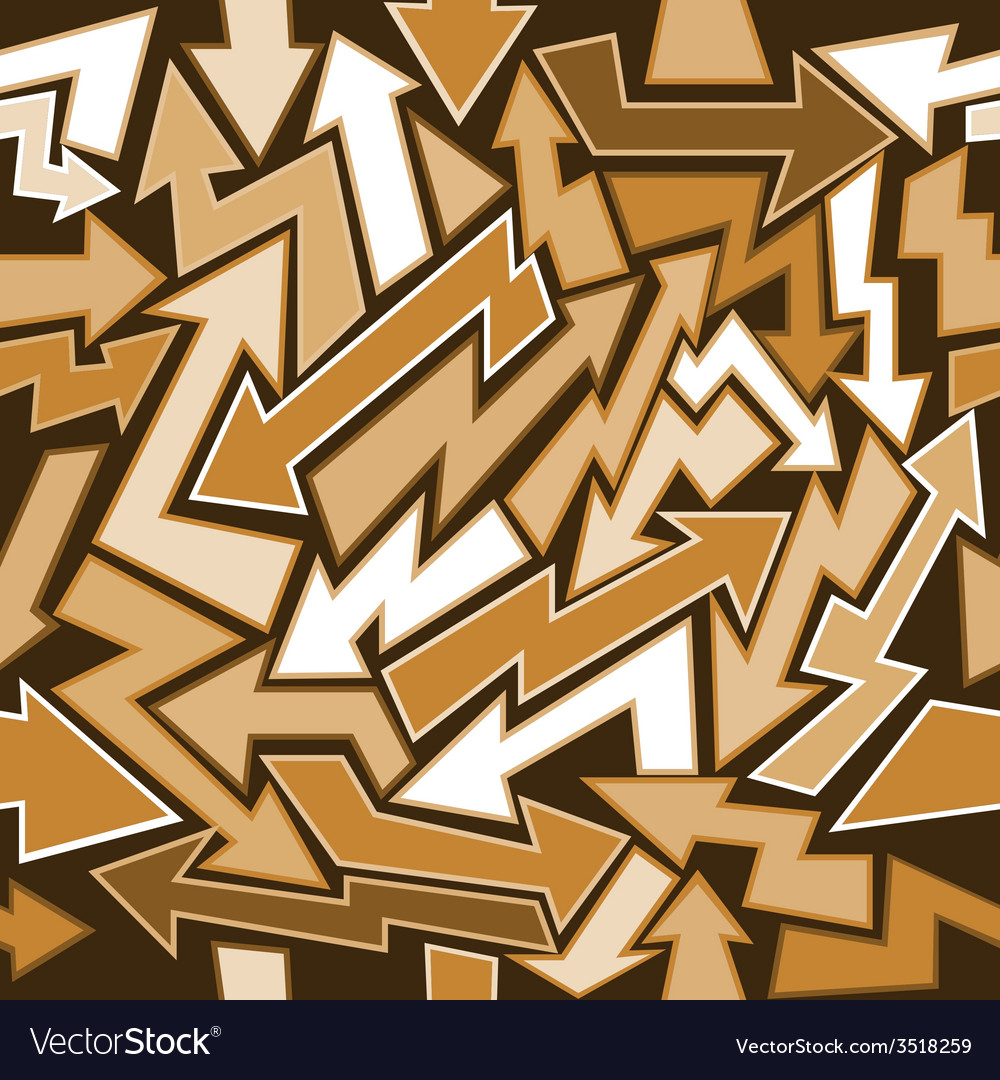 Graffiti arrows seamless background vector | Price: 1 Credit (USD $1)