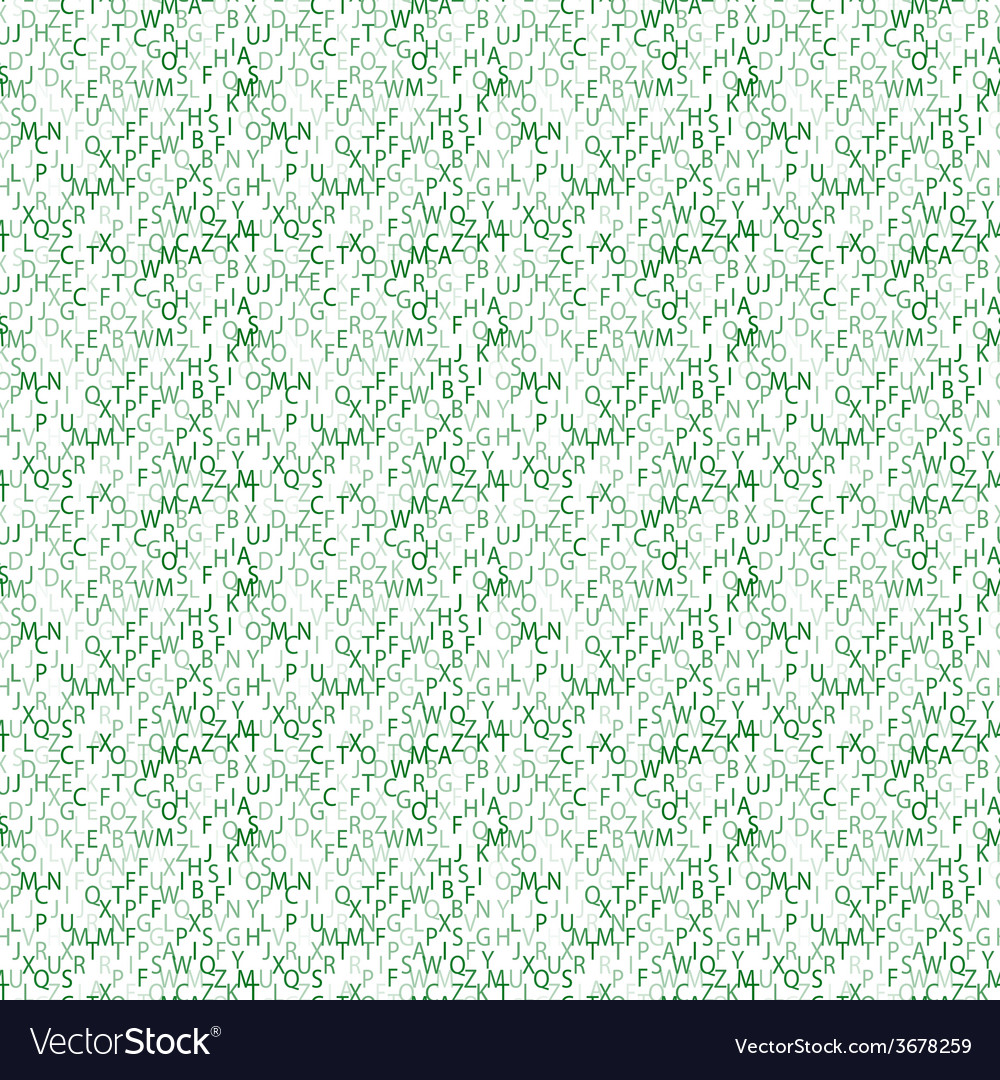 Matrix background with the green symbols seamless vector | Price: 1 Credit (USD $1)