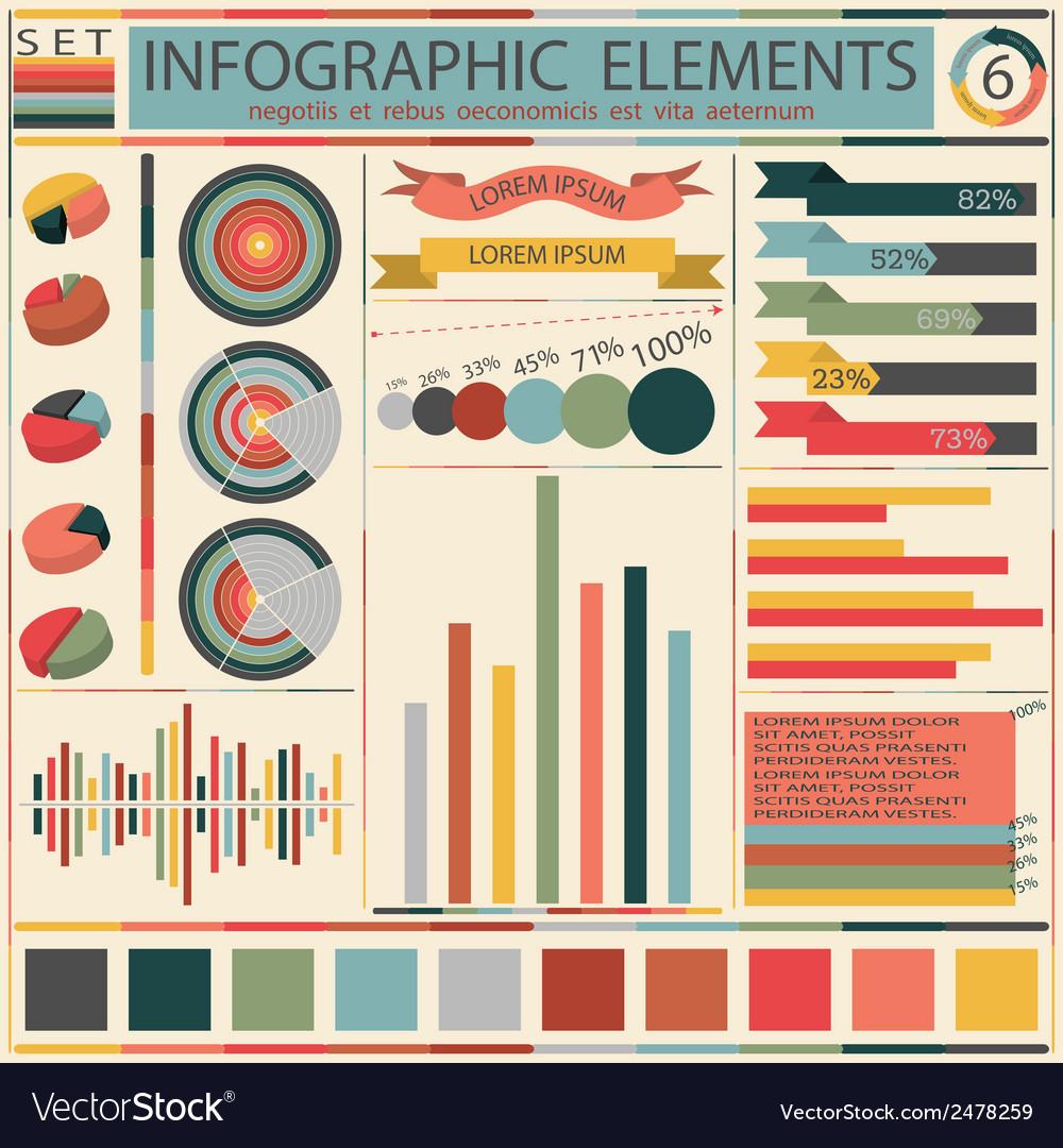 Set elements of retro infographics vector   Price: 1 Credit (USD $1)