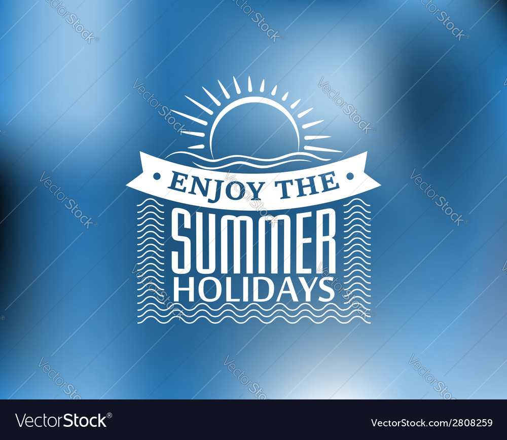 Summer holidays poster or banner vector | Price: 1 Credit (USD $1)