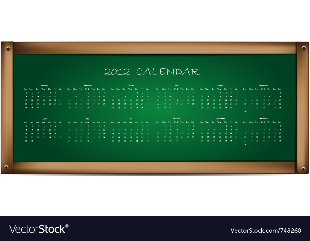 Calendar on school board vector | Price: 1 Credit (USD $1)