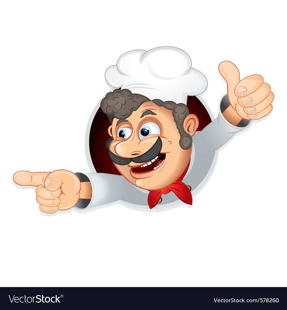 Funny italian chef vector | Price: 1 Credit (USD $1)