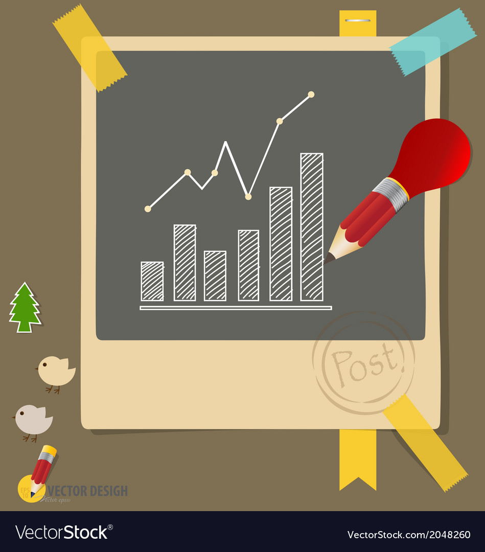 Note papers with drawing graphs vector | Price: 1 Credit (USD $1)