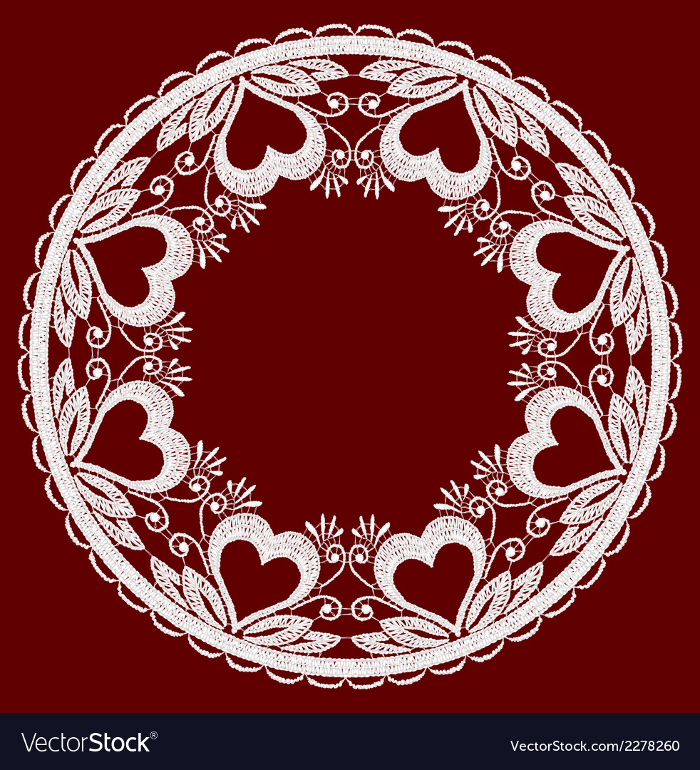 Round openwork lace border realistic vector | Price: 1 Credit (USD $1)