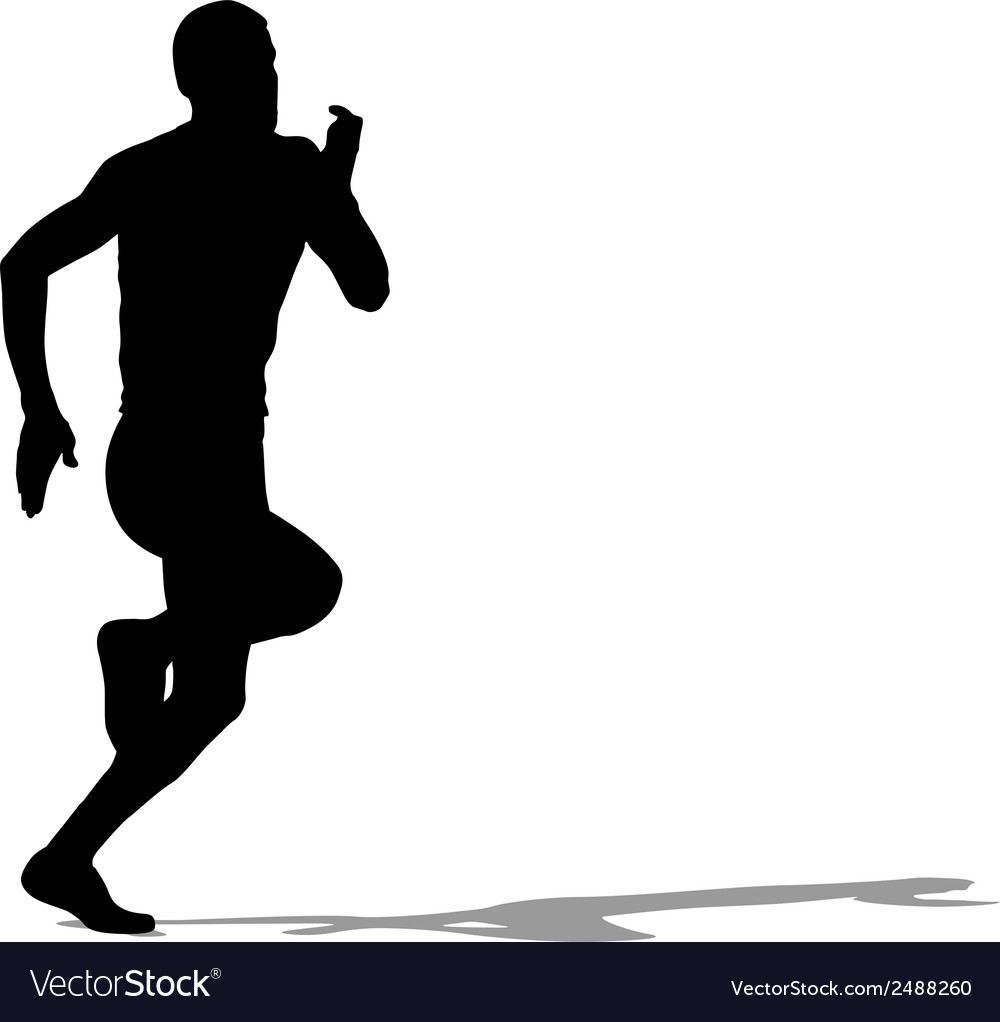Running silhouettes vector | Price: 1 Credit (USD $1)