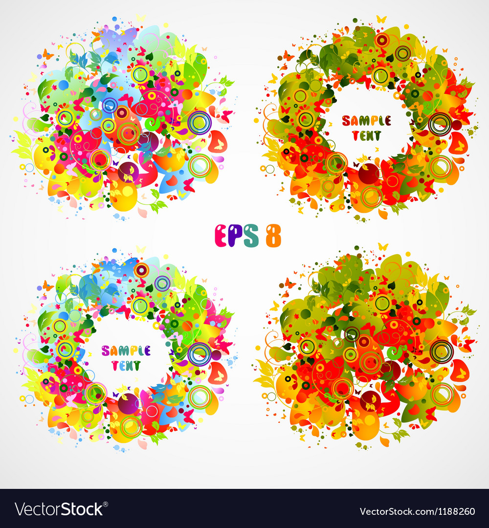 Season composition vector | Price: 1 Credit (USD $1)