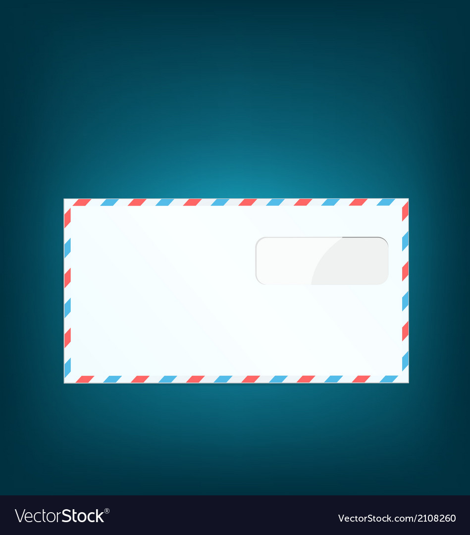 Single close envelope on blue background vector | Price: 1 Credit (USD $1)