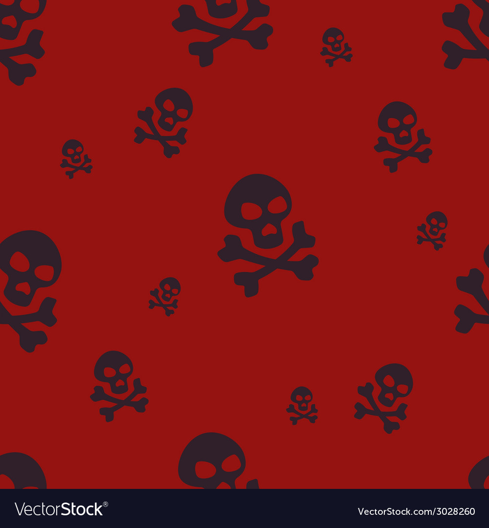 Skull pattern red vector | Price: 1 Credit (USD $1)