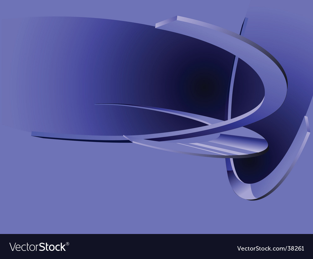 Abstract blue 3d rings vector | Price: 1 Credit (USD $1)