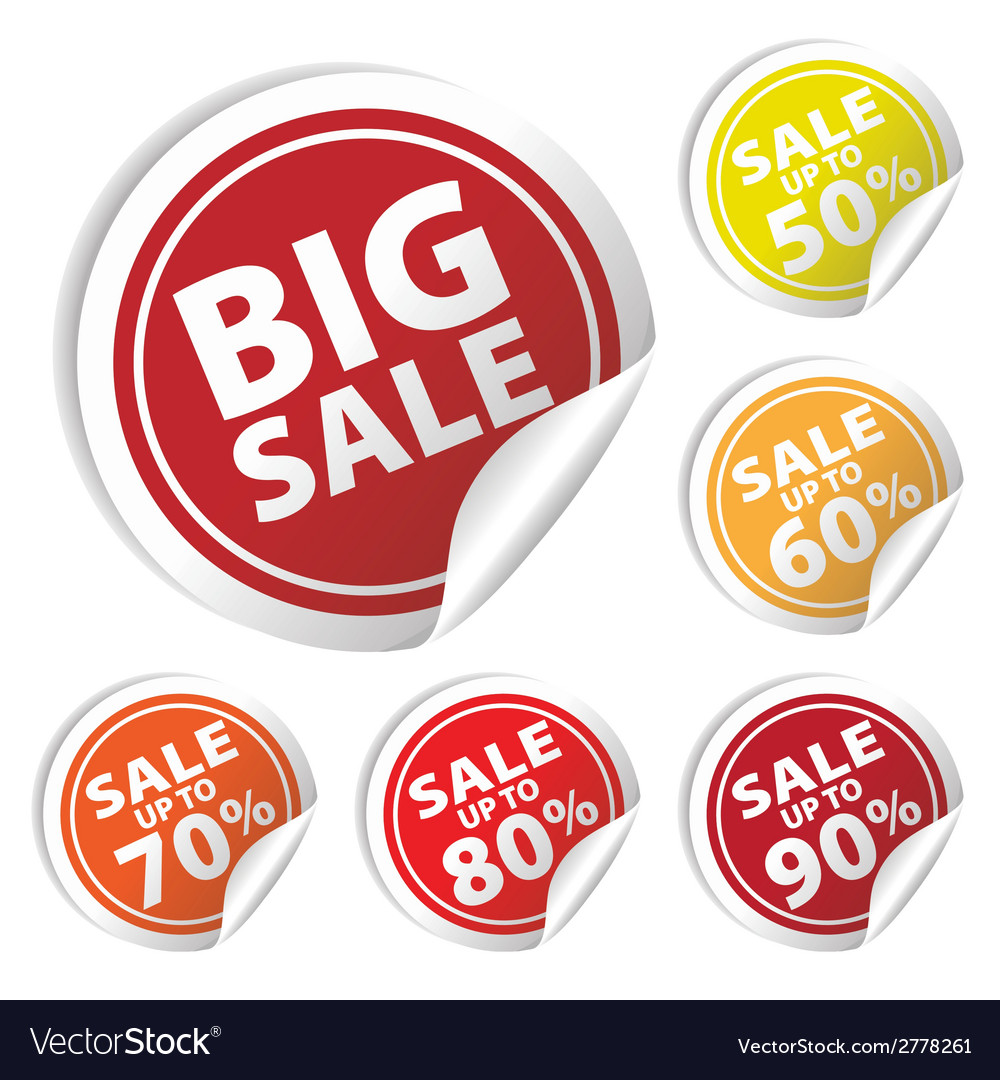 Bigsale circle sale up to 50 to 90 percent vector | Price: 1 Credit (USD $1)