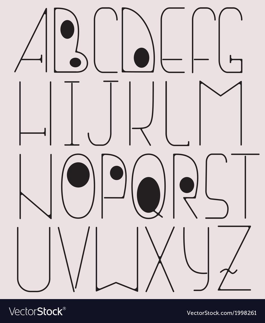 Complete english alphabet vector | Price: 1 Credit (USD $1)
