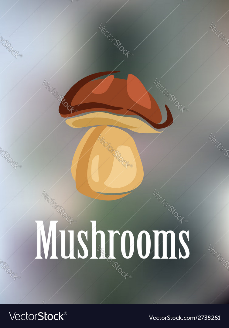 Forest colorful mushroom vector | Price: 1 Credit (USD $1)