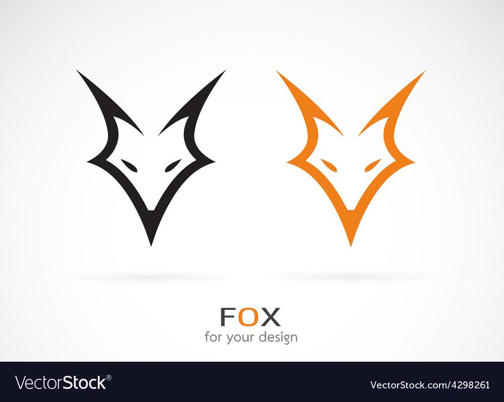 Image of an fox face design vector