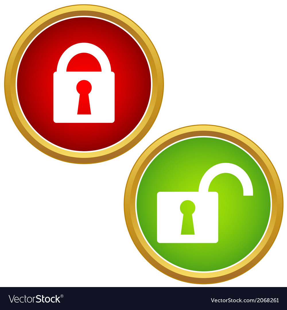 Lock icon set vector | Price: 1 Credit (USD $1)