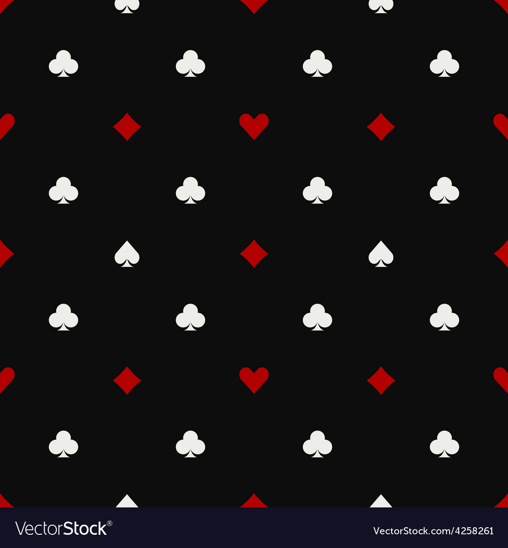 Poker seamless pattern vector | Price: 1 Credit (USD $1)