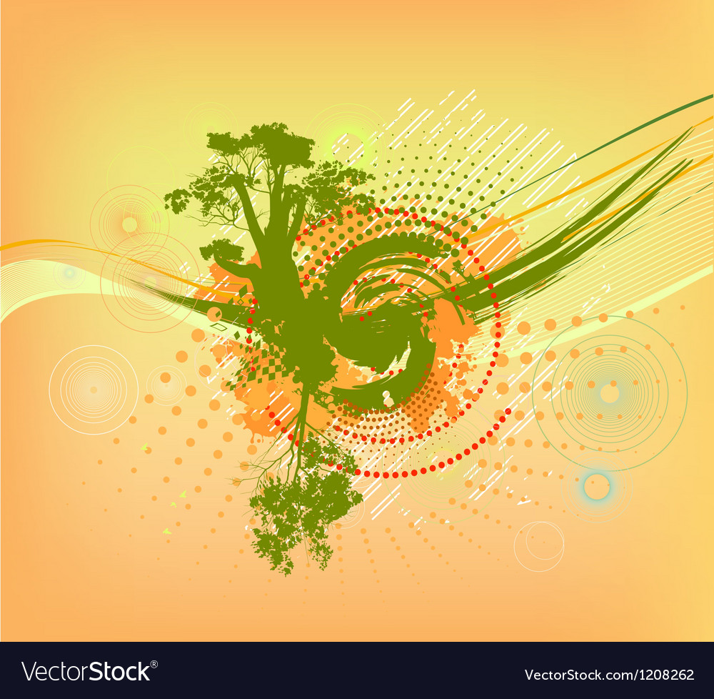 Abstract colorful background with tree vector | Price: 1 Credit (USD $1)