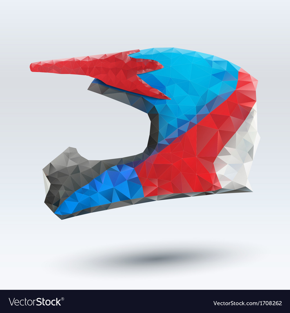 Abstract motorcycle helmet vector | Price: 1 Credit (USD $1)