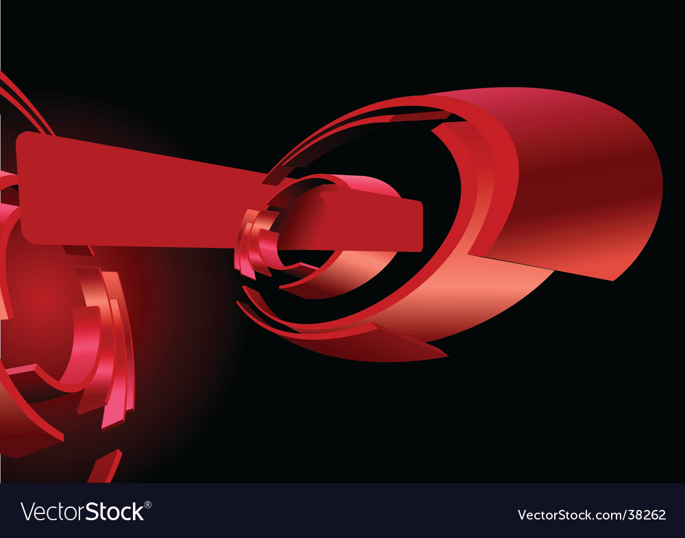 Abstract red 3d rings banner vector | Price: 1 Credit (USD $1)