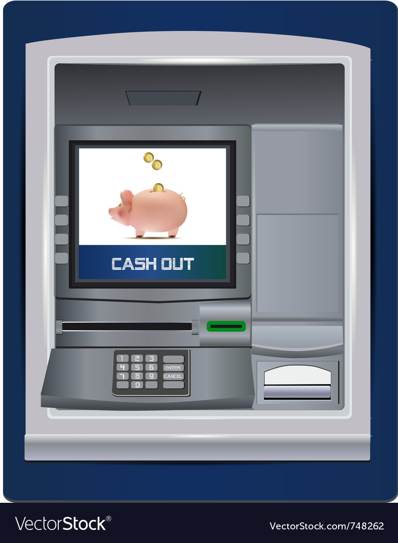 Atm bank vector | Price: 1 Credit (USD $1)