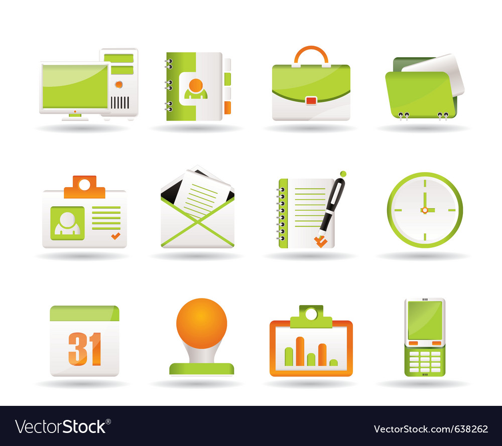 Business and office icons icons vector | Price: 1 Credit (USD $1)
