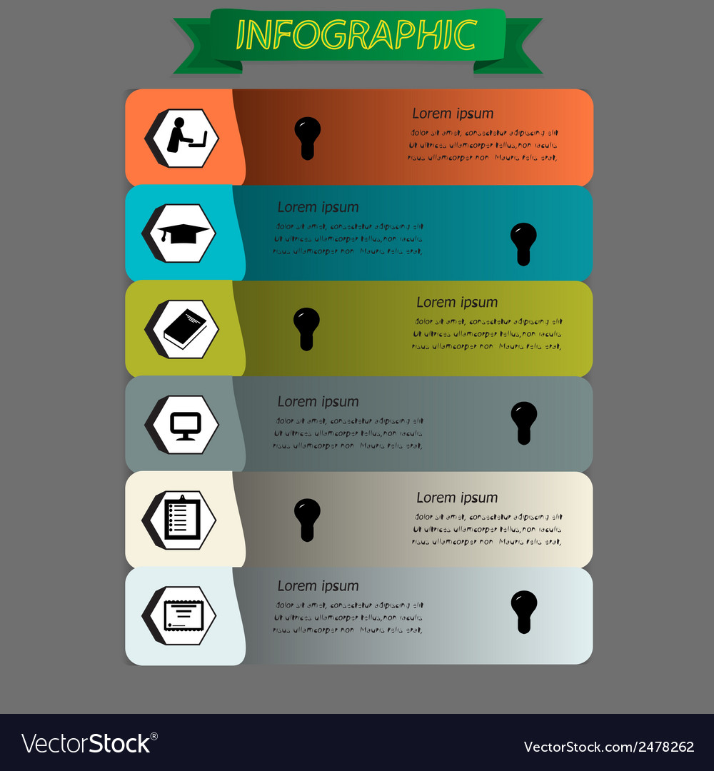 Education infographic set vector | Price: 1 Credit (USD $1)
