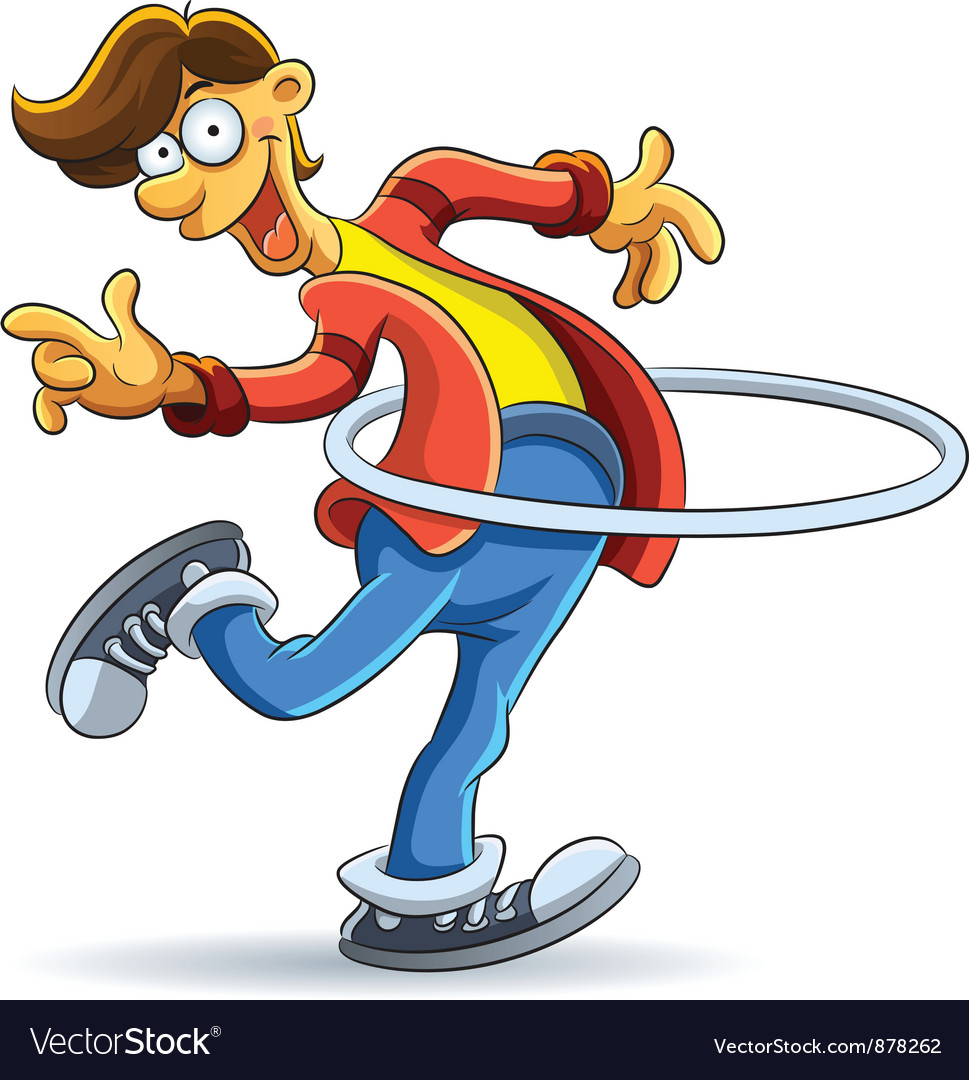 Hula hoop man vector | Price: 3 Credit (USD $3)