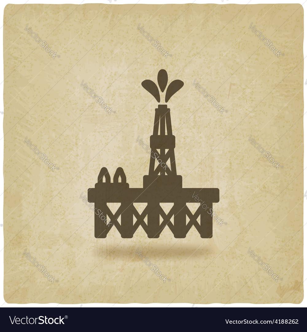 Oil platform symbol vector | Price: 1 Credit (USD $1)