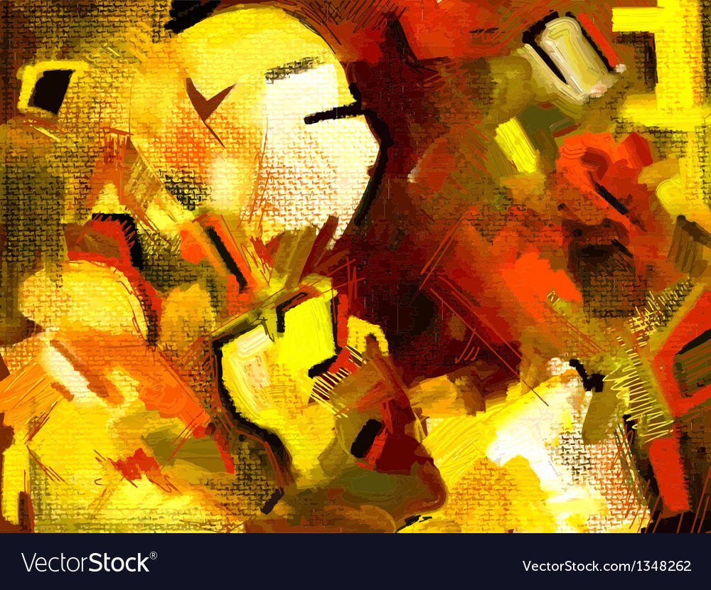 Original hand draw abstract digital painting compo vector | Price: 1 Credit (USD $1)