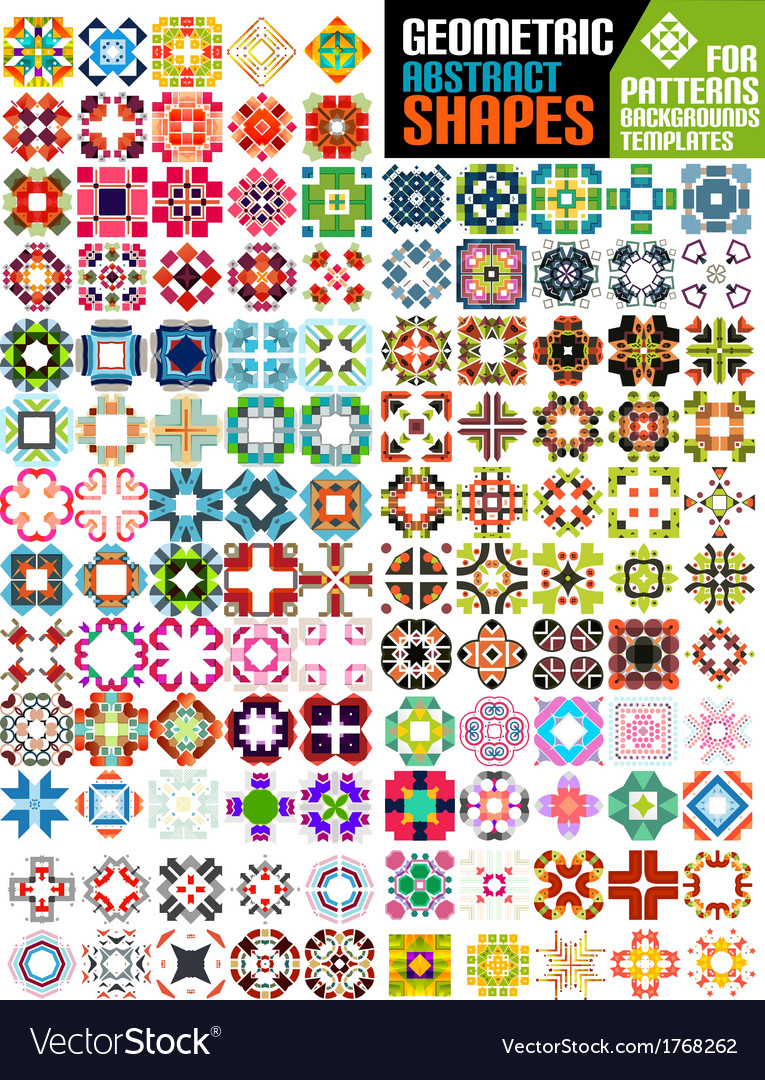 Set of abstract geometric shapes vector | Price: 1 Credit (USD $1)