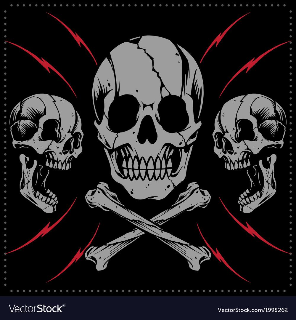 Skulls and bone cross vector | Price: 1 Credit (USD $1)