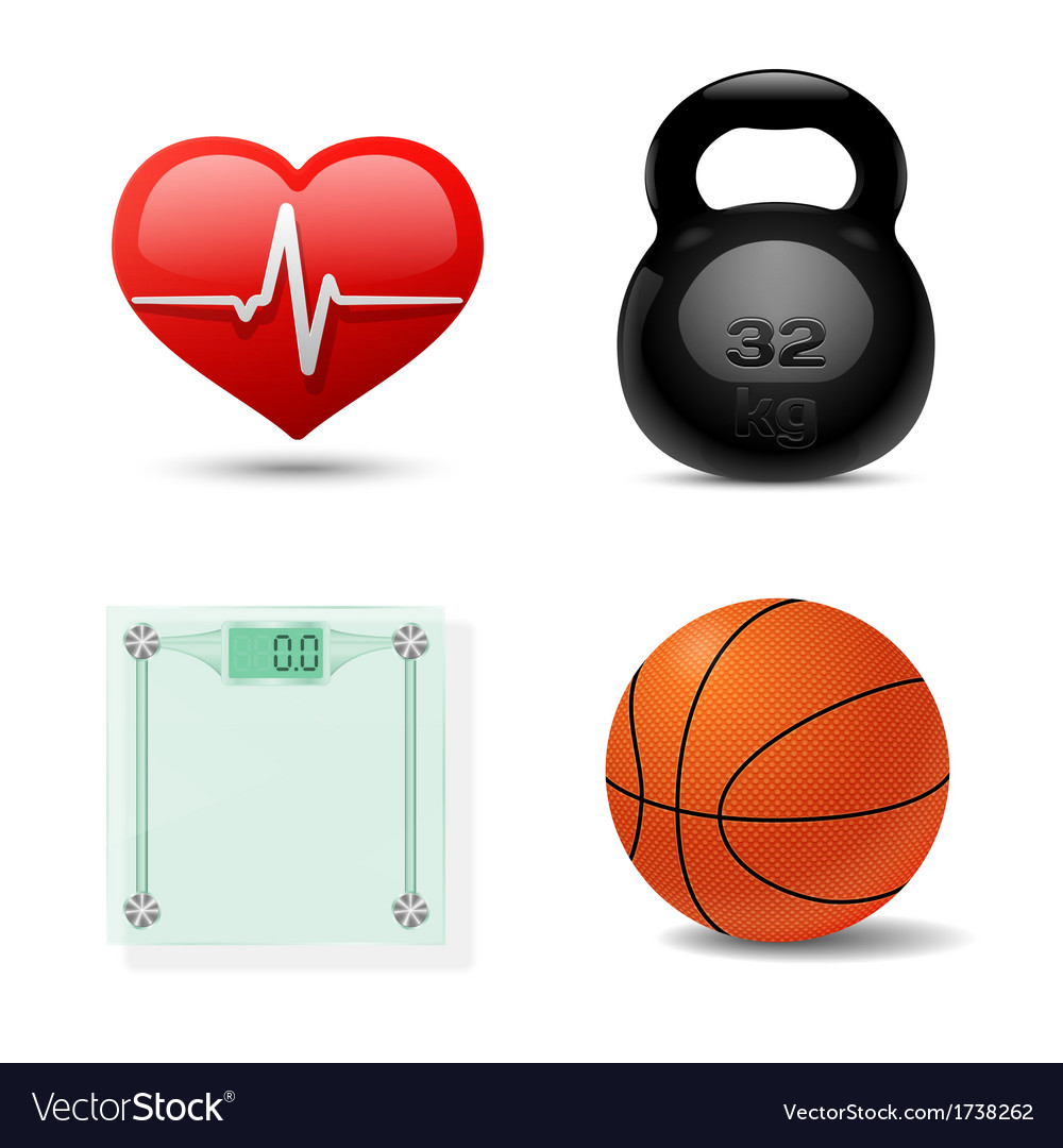 Sport and fitness icon set vector | Price: 1 Credit (USD $1)