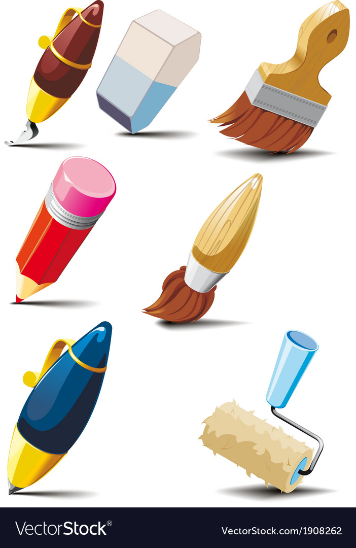 Stationery set vector | Price: 1 Credit (USD $1)
