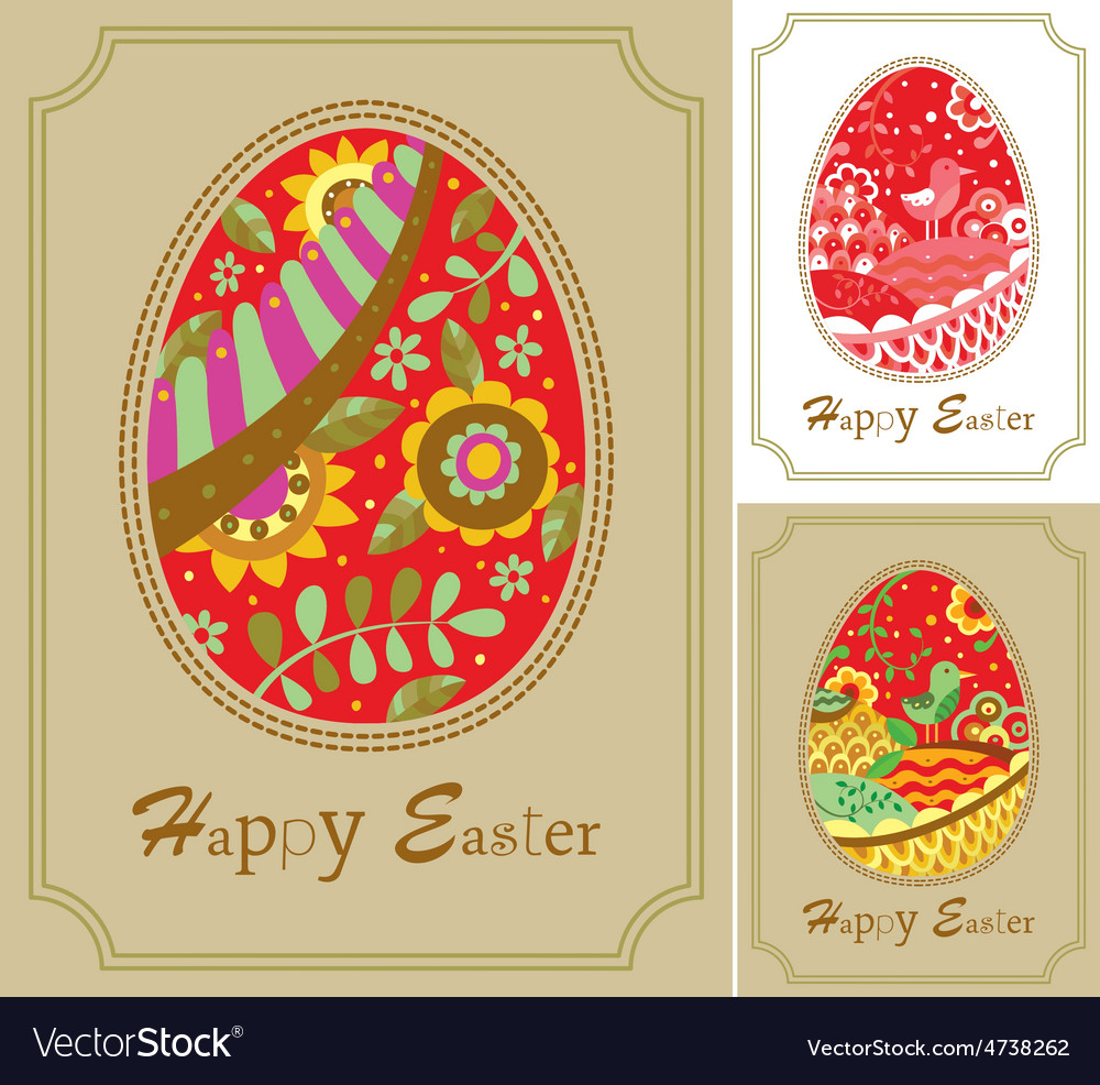 Three easter card vector | Price: 1 Credit (USD $1)