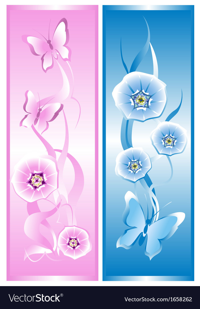 Two decorative cards vector | Price: 1 Credit (USD $1)