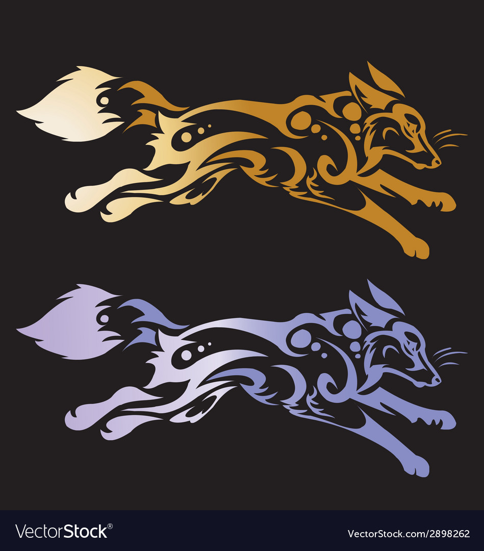 Wolf head tattoo on a black background vector | Price: 1 Credit (USD $1)