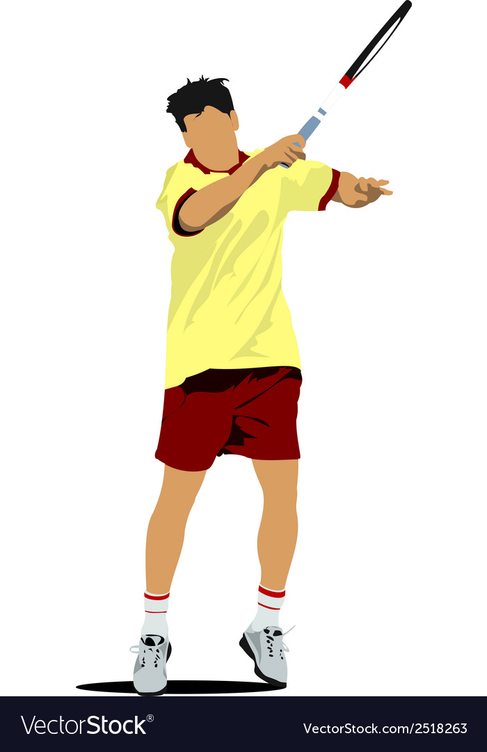 Al 0311 tennis player 01 vector | Price: 1 Credit (USD $1)