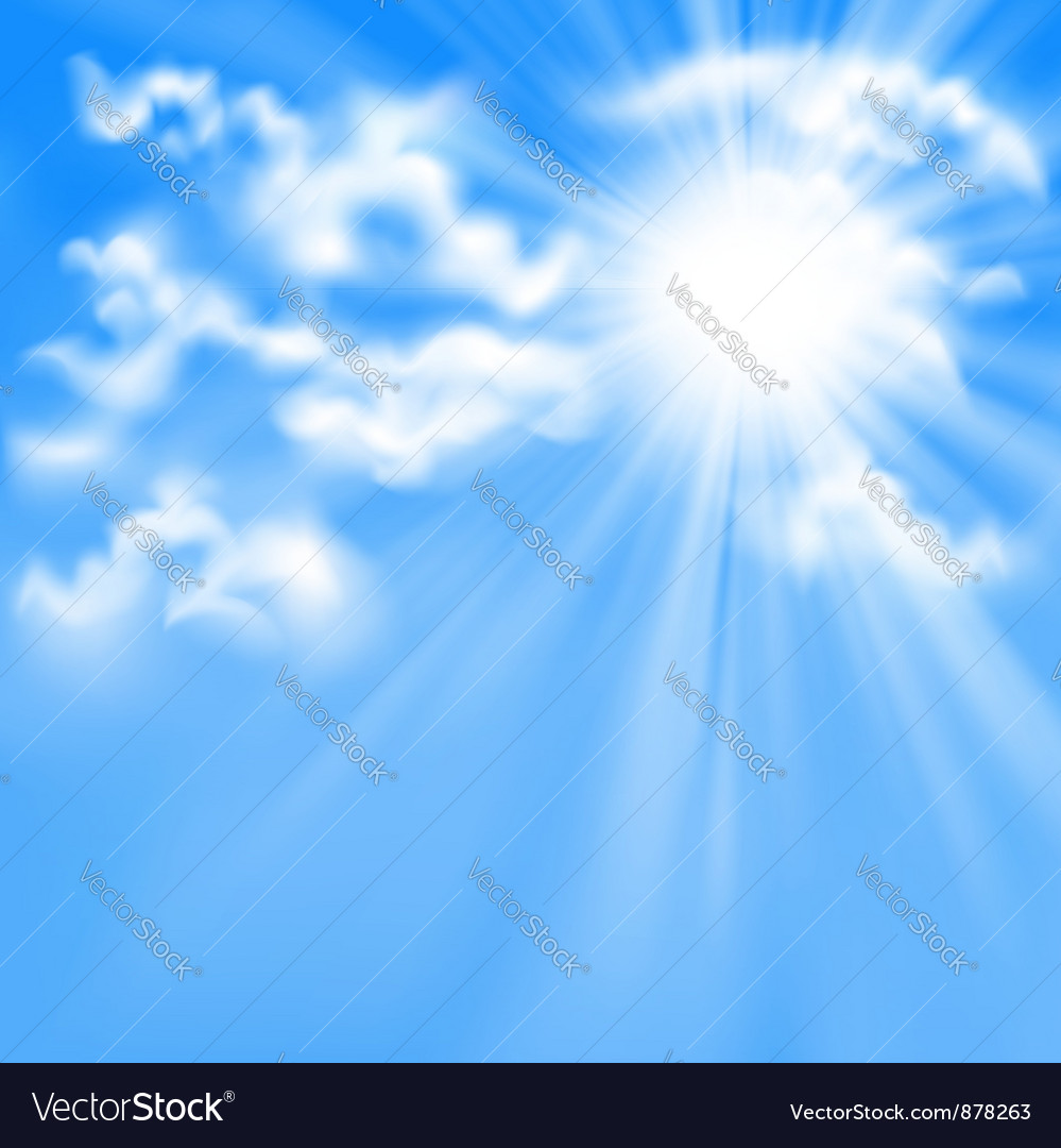 Blue sky and sun vector | Price: 1 Credit (USD $1)