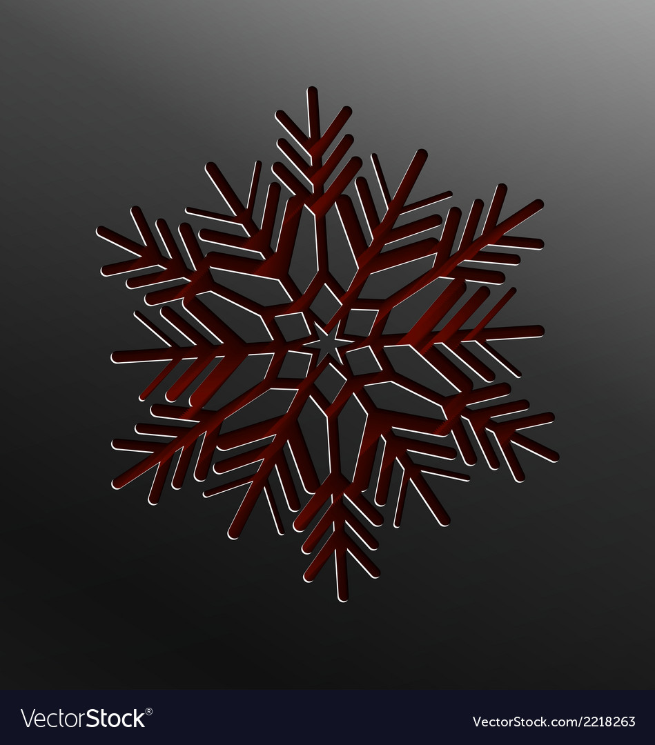 Christmas snowflake cut of paper vector | Price: 1 Credit (USD $1)