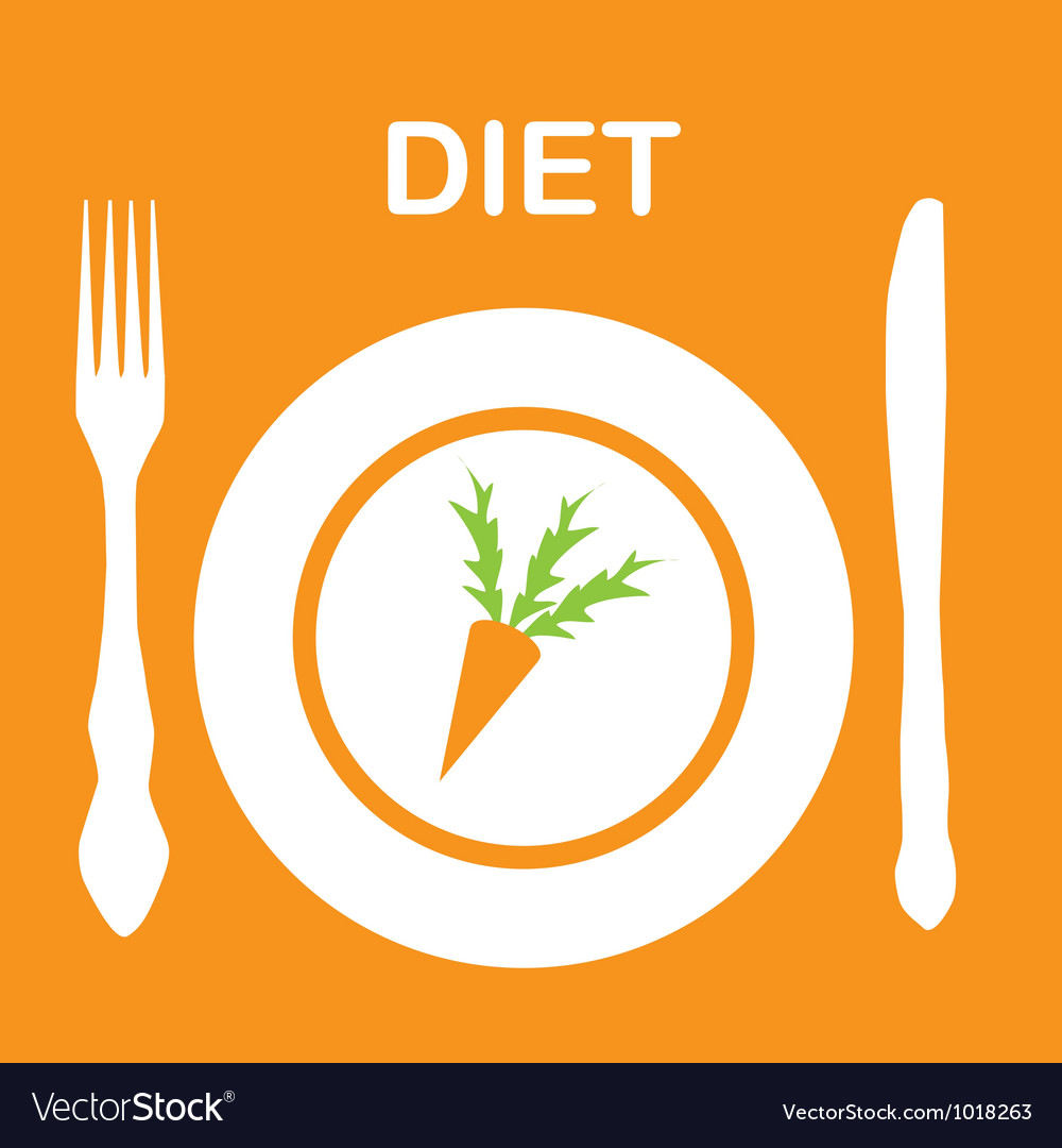 Diet icon vector | Price: 1 Credit (USD $1)