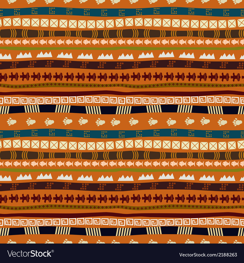 Ethnic abstract pattern with african motives vector | Price: 1 Credit (USD $1)