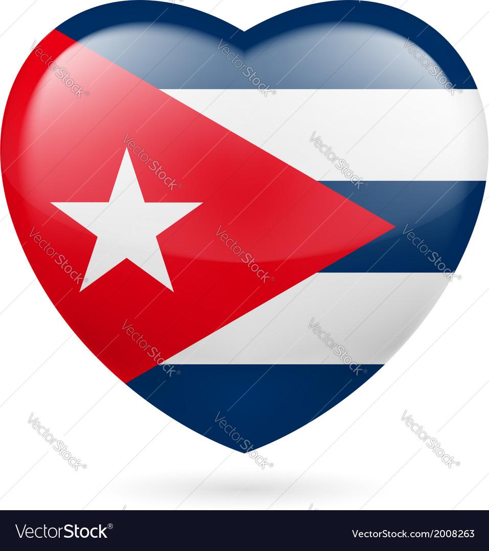 Heart icon of cuba vector   Price: 1 Credit (USD $1)