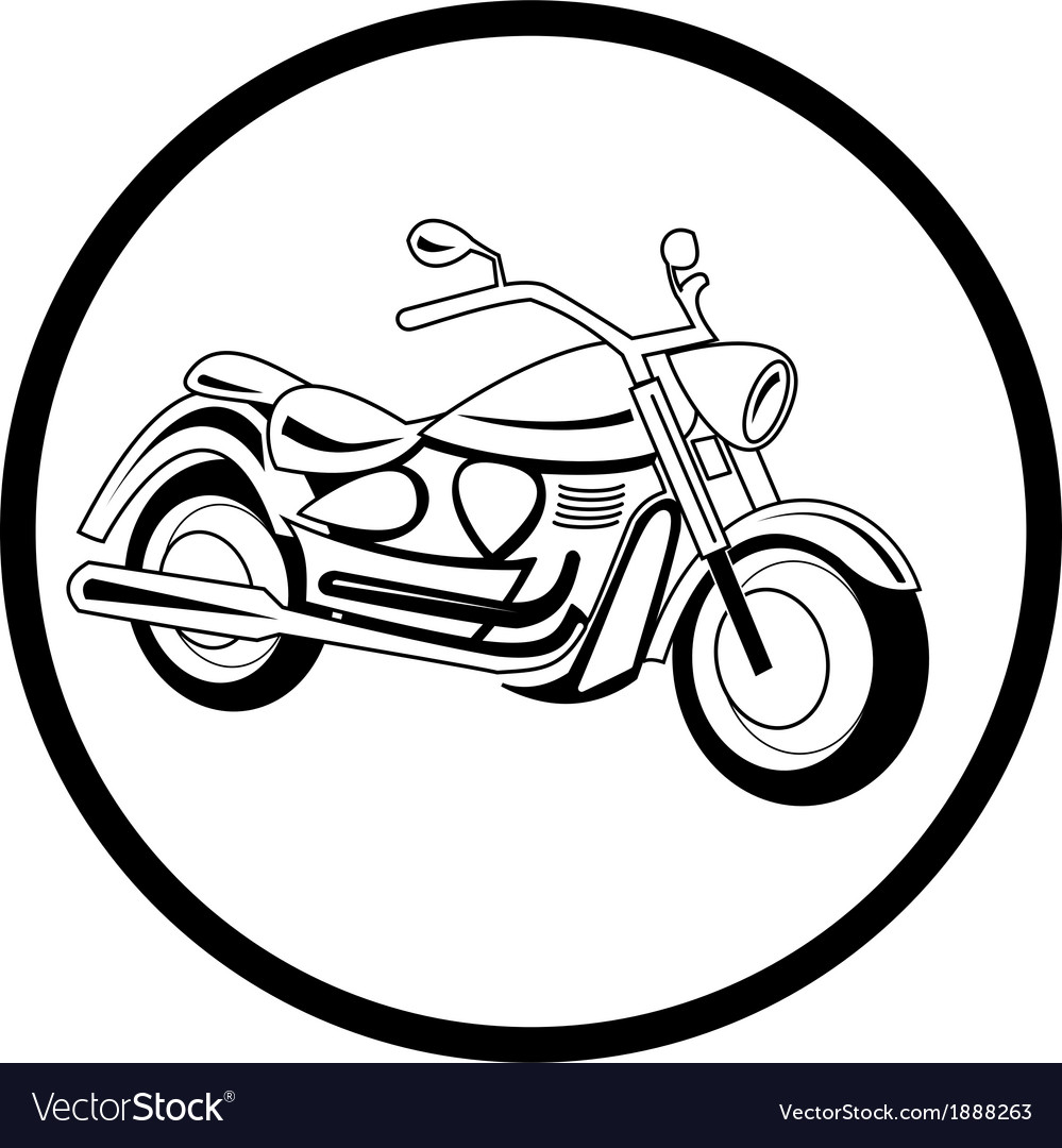Motorcycle icon vector | Price: 1 Credit (USD $1)
