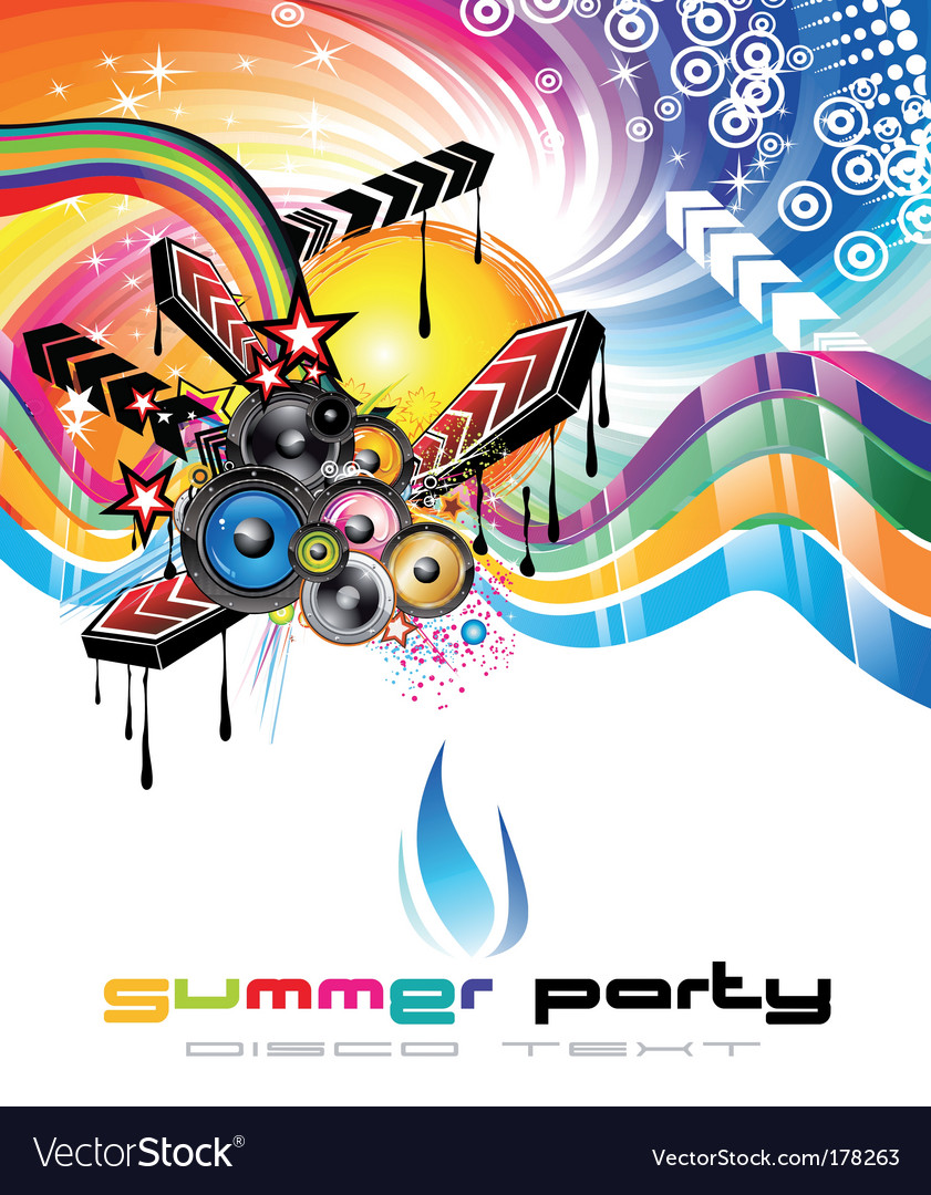 Music background for discoteque flyers vector | Price: 3 Credit (USD $3)