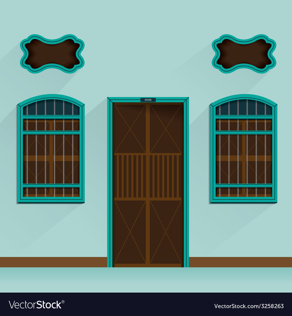 Old building chino portuguese vector | Price: 1 Credit (USD $1)