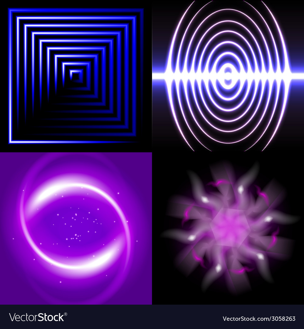 Set of blurry abstract lines light effect sparkle vector   Price: 1 Credit (USD $1)