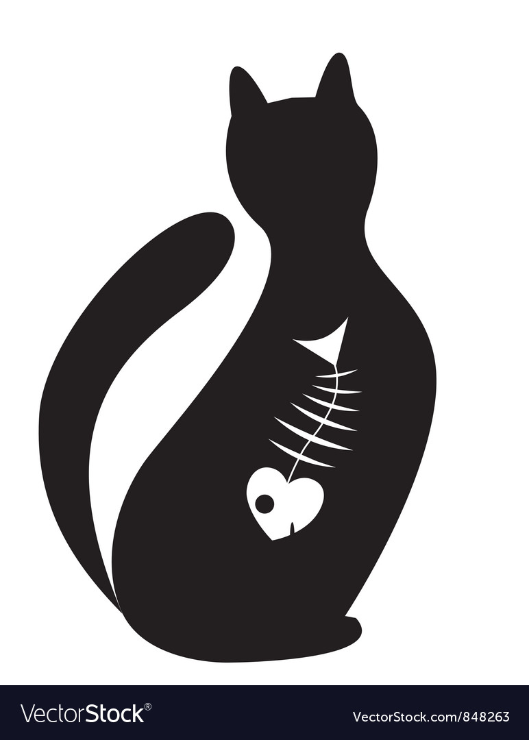 Silhouette of cat vector | Price: 1 Credit (USD $1)