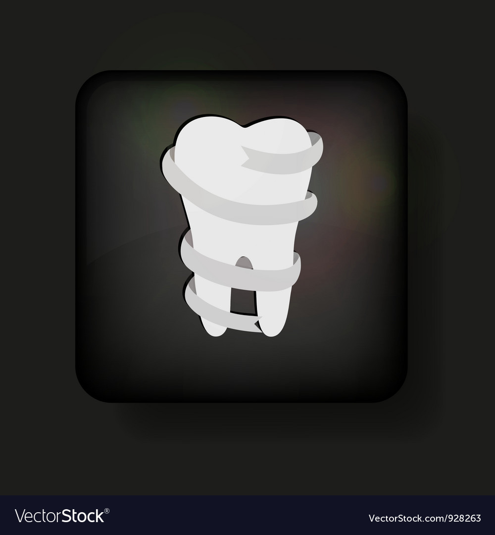 Tooth button vector | Price: 1 Credit (USD $1)