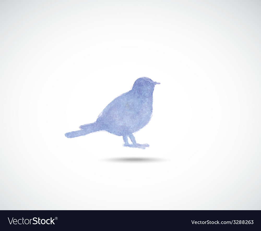 Watercolor titmouse vector