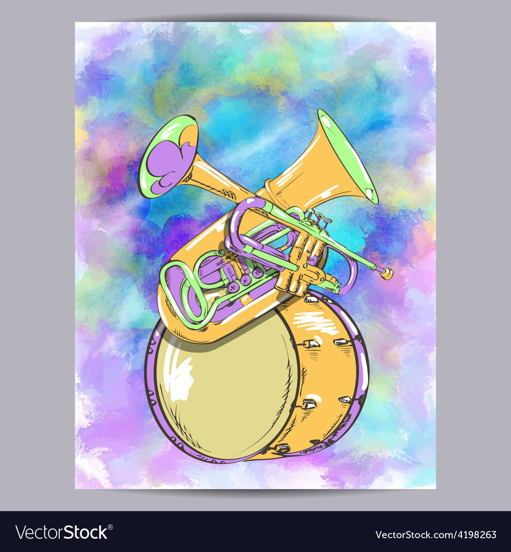 Wind instruments vector | Price: 1 Credit (USD $1)
