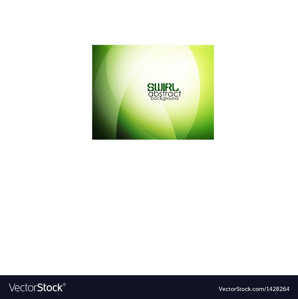 Abstract green waves vector | Price: 1 Credit (USD $1)